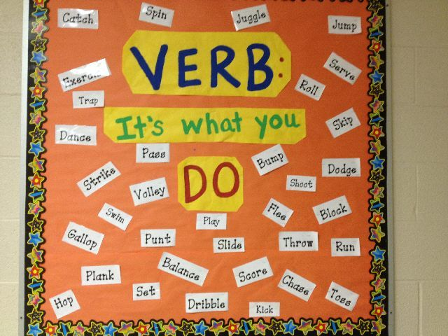 Classroom Decoration Games Free ~ Verb it s what you do love this bulletin board