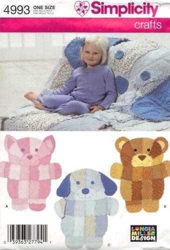 Simplicity Pattern 4993 Rag Quilt Throw Dog Cat Bear Ebay Bear Quilts Rag Quilt Patterns Dog Quilts