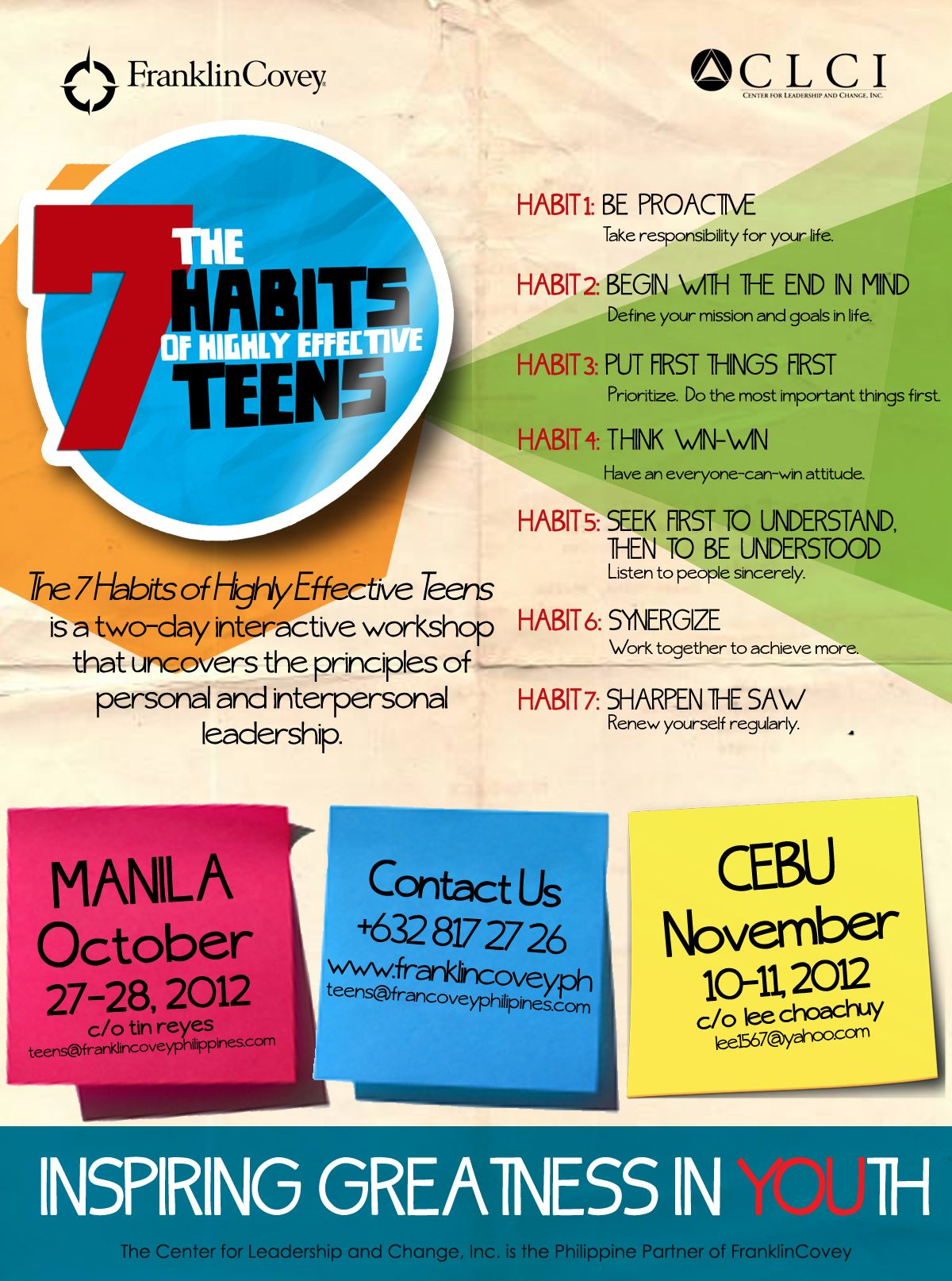 The 7 Habits Of Highly Effective Teens Philippines S