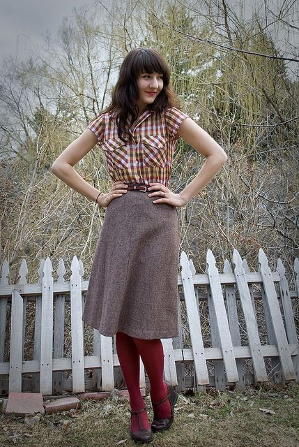 432057cf5ddf5 Blouse, Skirt w/ belt, and Shoes: Thrifted (DI) Tights: Kohls So now I am  officially a week behind posting Ryan's birthday. gee.