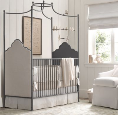 Augusta Iron Canopy Crib | Cribs Bassinets | Restoration Hardware ...