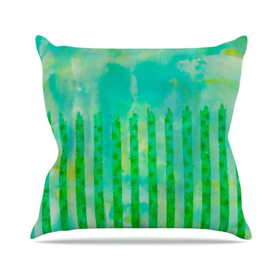 16 by 16 Kess InHouse EBI Emporium When We were Mermaids Blue Yellow Throw Pillow