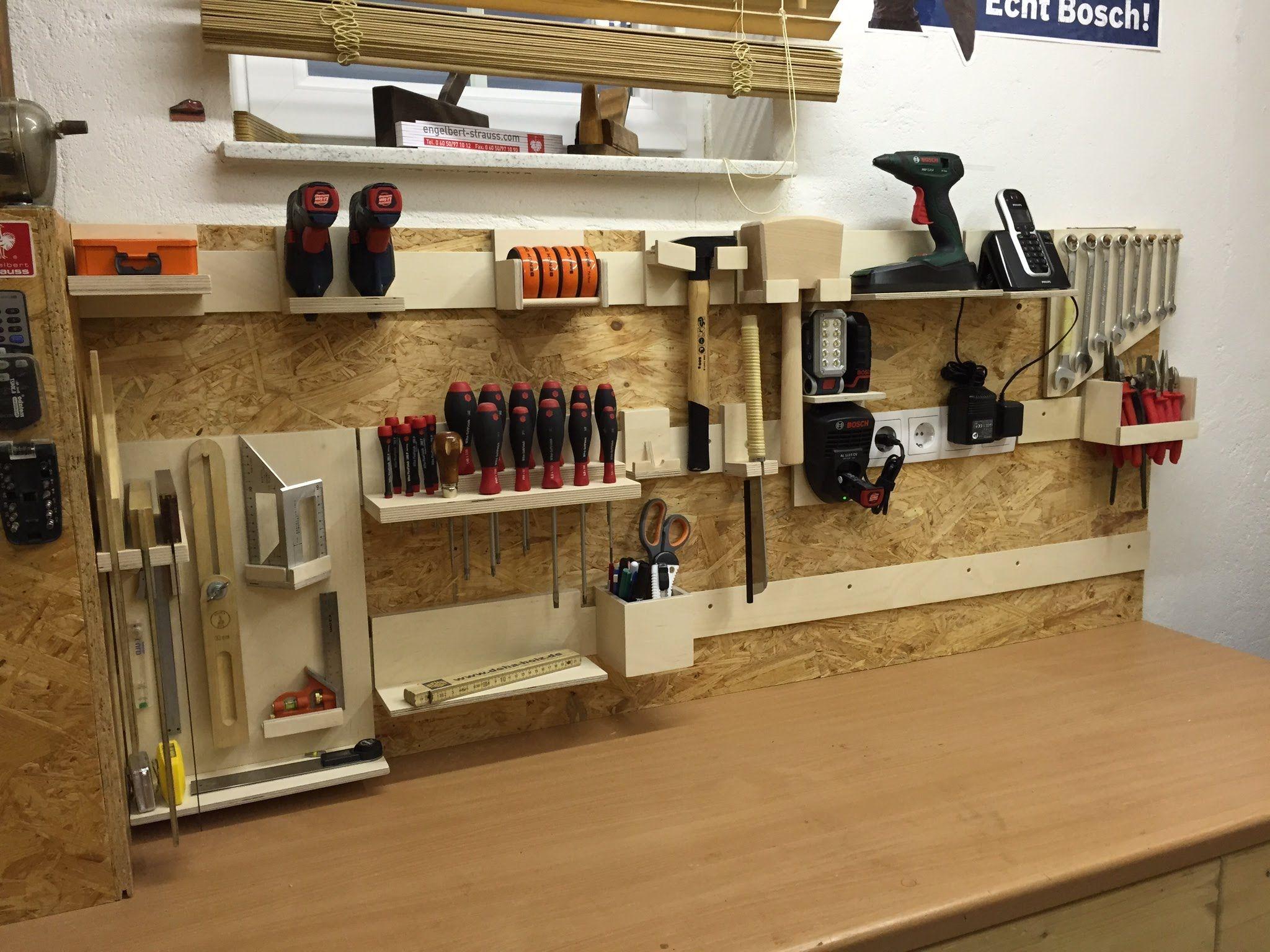 French Cleat Aufhängesystem Für Werkzeuge