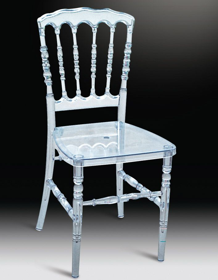 Clear Plastic Chair With Acrylic Bamboo Chair 5PC/ Carton
