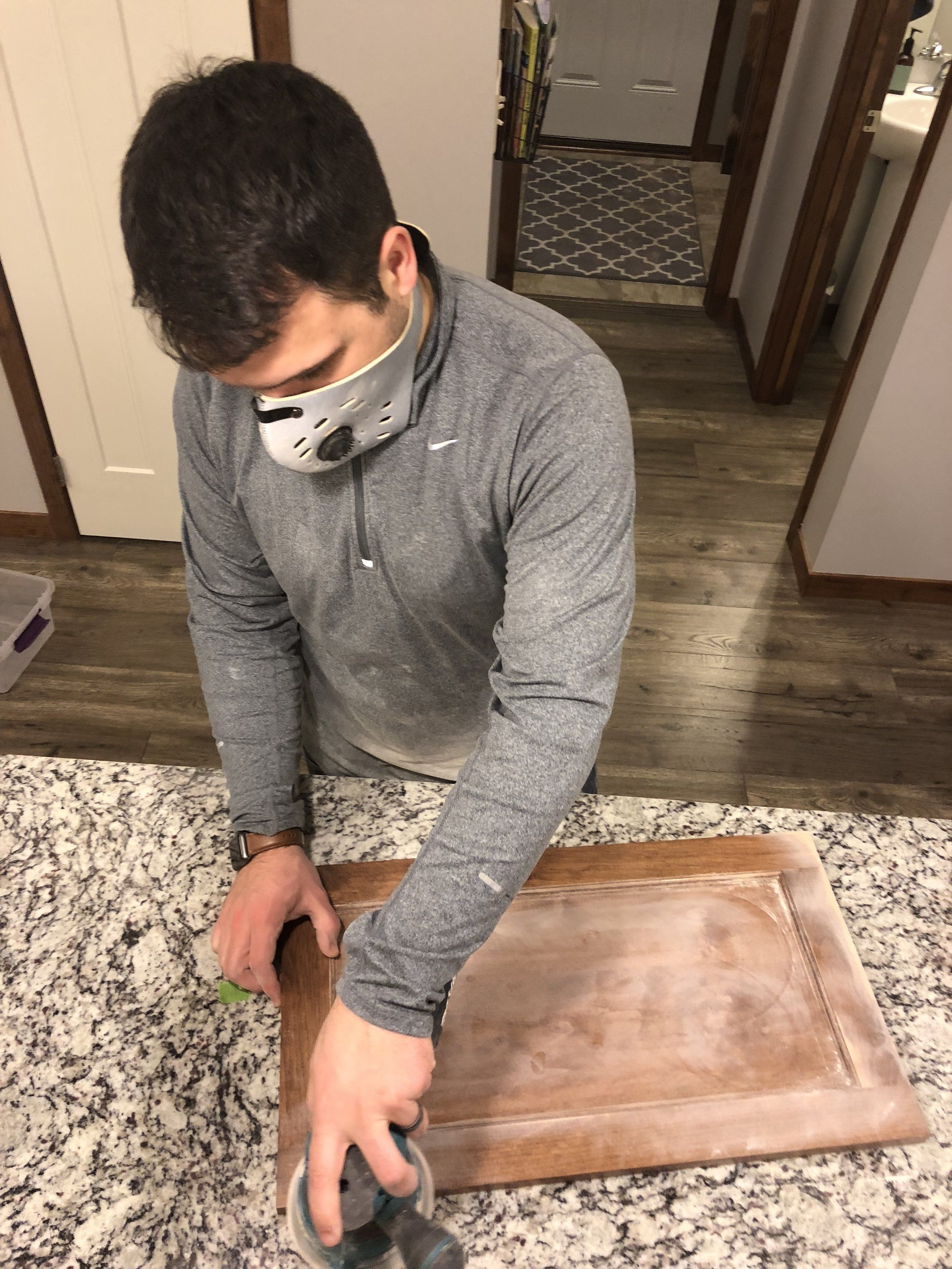 Putter helped me out with some of the sanding. When ...