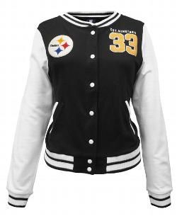 7c8efe2e ... officially licensed Pittsburgh Steelers women's apparel. Pittsburgh  Steelers Women's Fleece Varsity Jacket