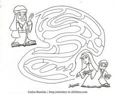 Elisha maze preschool jars elijah and the widow coloring for Elijah bible story coloring pages