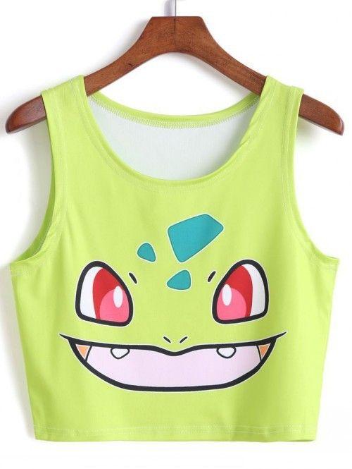 Tee camiseta para nuevas Camis mujeres del la Emoji de camiseta la de pokemon impresión para Tops 2015 Tops tanques animal crop mujer mujeres pikachu pato q1FII
