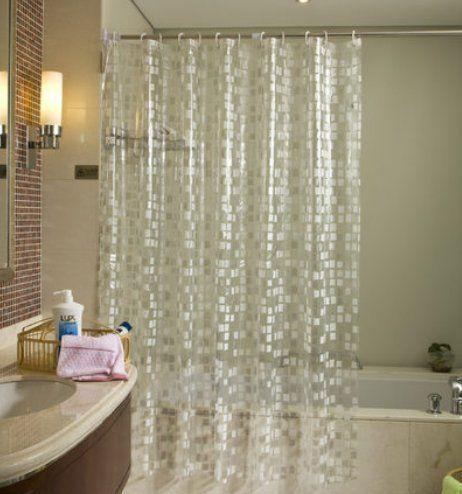 ufriday sparkle vinyl shower curtains