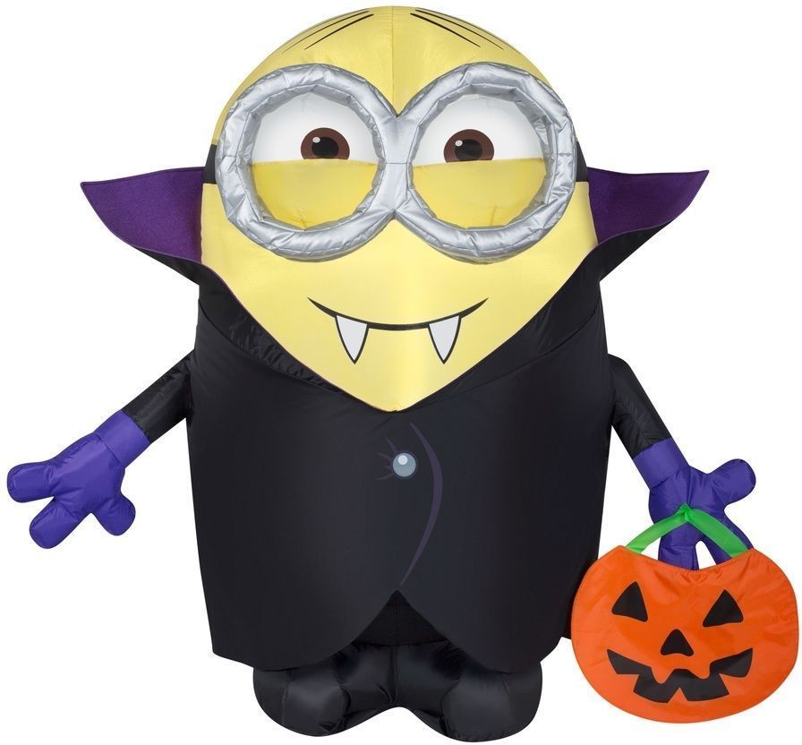 gemmy airblown minion gone batty inflatable with treat sack