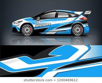 Racing Car Wrap Design Sedan Hatchback Wrap Design