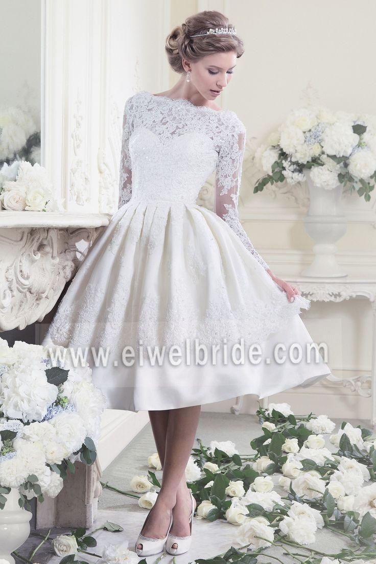 Wedding dress patterns free  S Scoop appliqued long sleeve short wedding dress patterns free