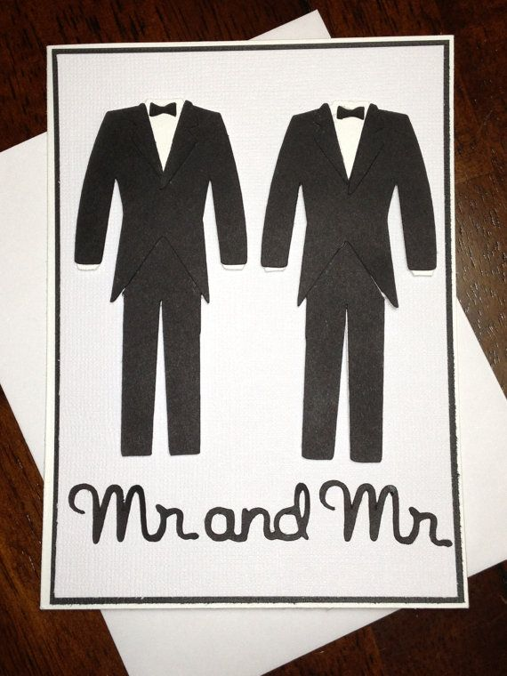 003 Handmade Same Sex Wedding Card by DesigningMoments on Etsy