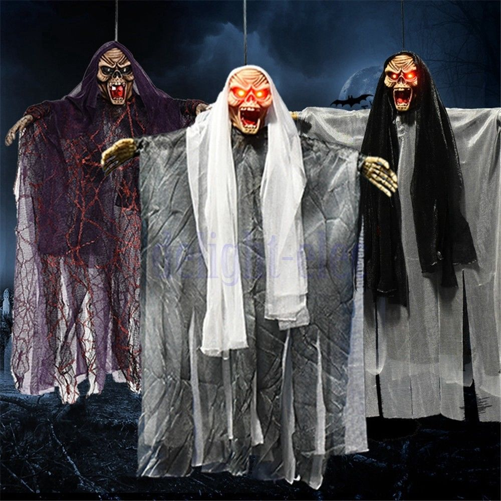 Long-Haired Ghosts Halloween Hanging Ghost Witch Scary Haunted House - Scary Door Decorations For Halloween