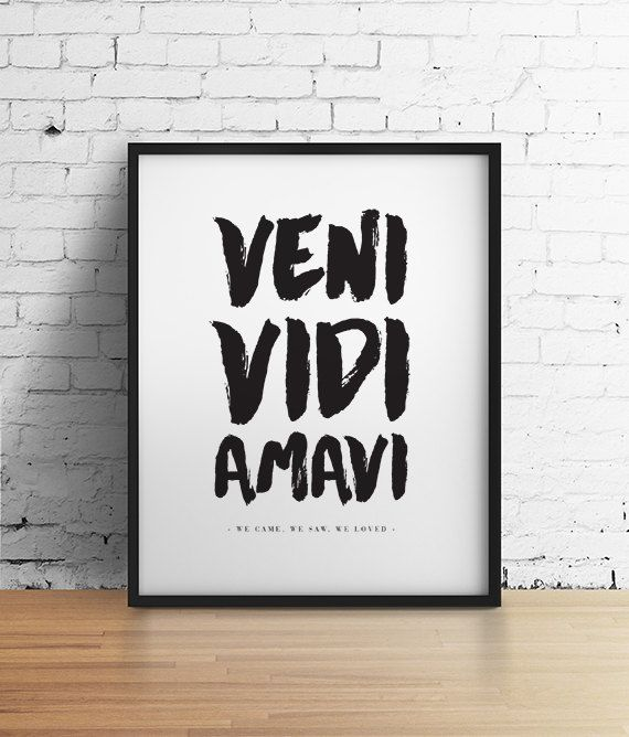 Love quote print black and white art wall decor romantic print italian poster typography