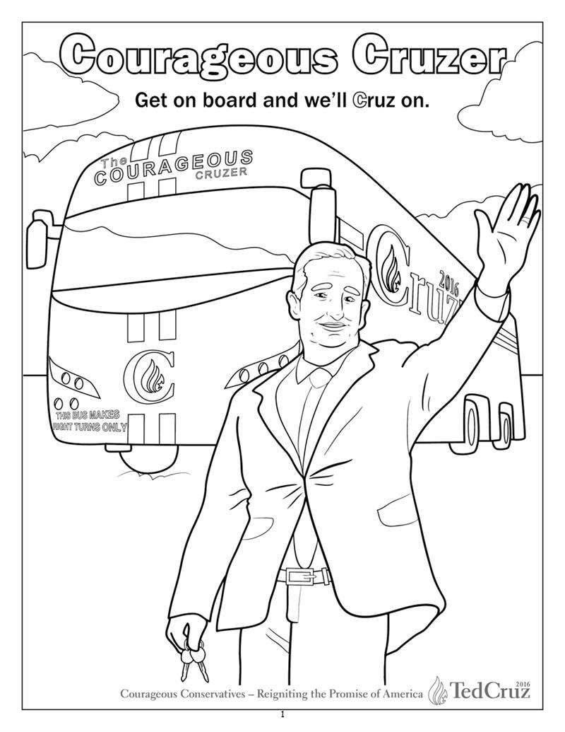 ted cruz coloring page - Google Search | Coloring | Pinterest