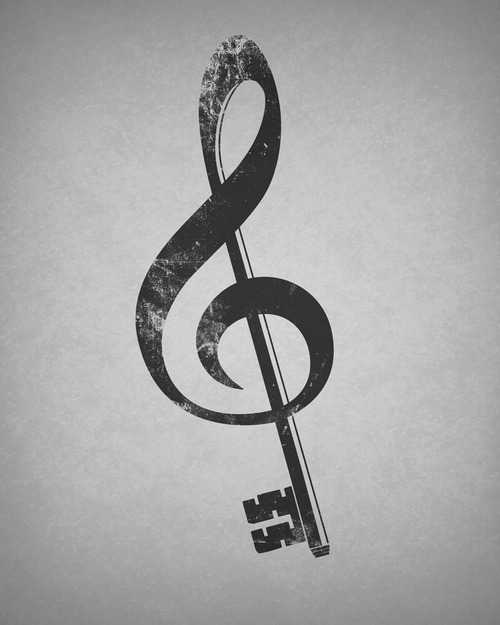 Clave De Sol La Musica Es El Corazon De La Vida