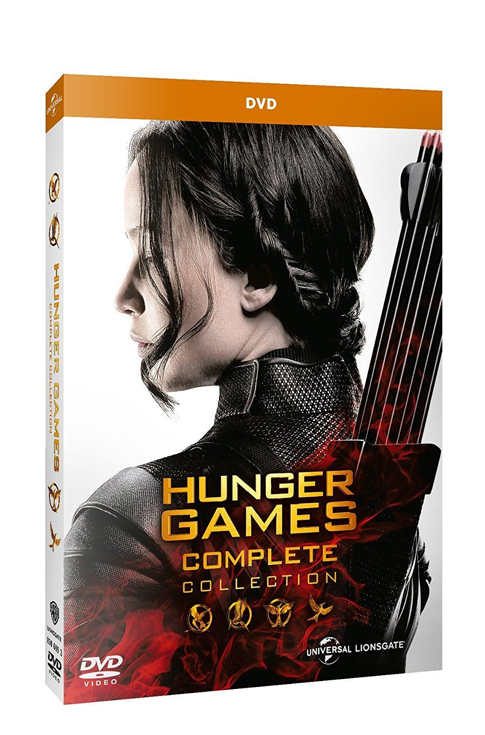 Hunger Games Complete Collection 4 Dvd Italia Ad Complete Games Hunger Italia Hunger Games Hunger Games Saga Dvd