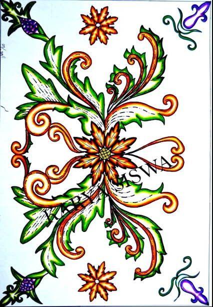 Motif Batik Sederhana Dan Mudah Digambar : motif, batik, sederhana, mudah, digambar, Terkeren, Gambar, Bunga, Berwarna, Mudah, Digambar-, Kumpulan, Batik, Sederhana, Pemandangan, Ala…, Bunga,, Gambar,