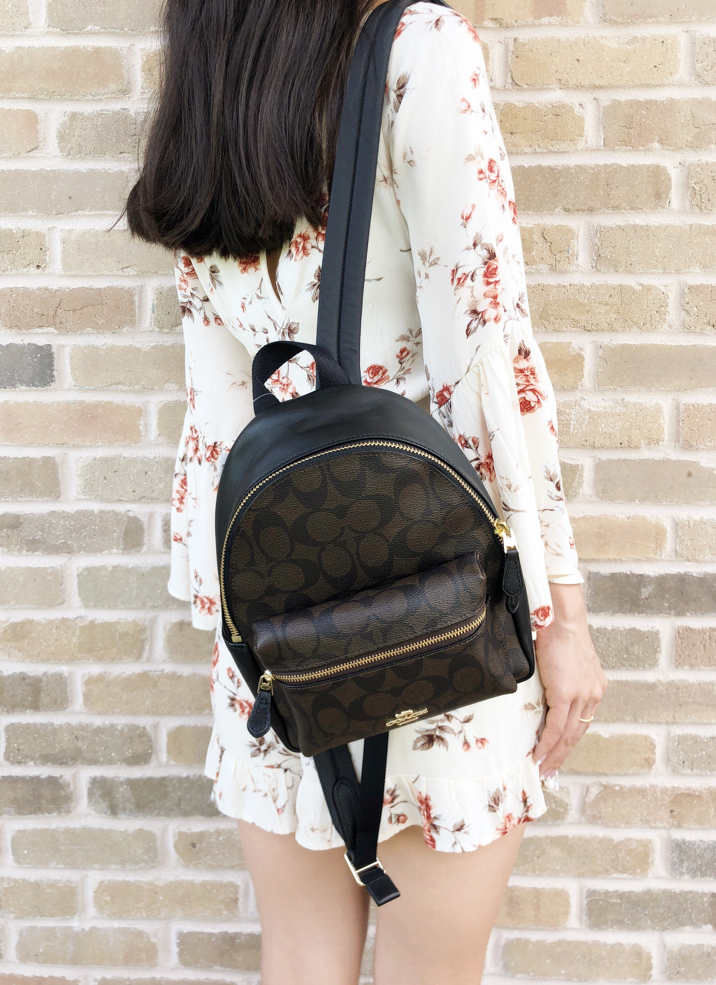 c012139ab Coach F58315 Mini Charlie Signature Backpack Bag Brown Black #GabysBags # Handbags