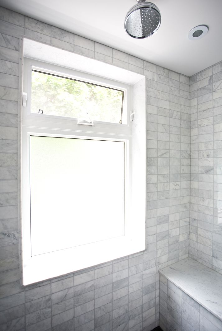 shower window--this is what I was originally thinking, with the translucent window on the bottom for light and the transom up top.