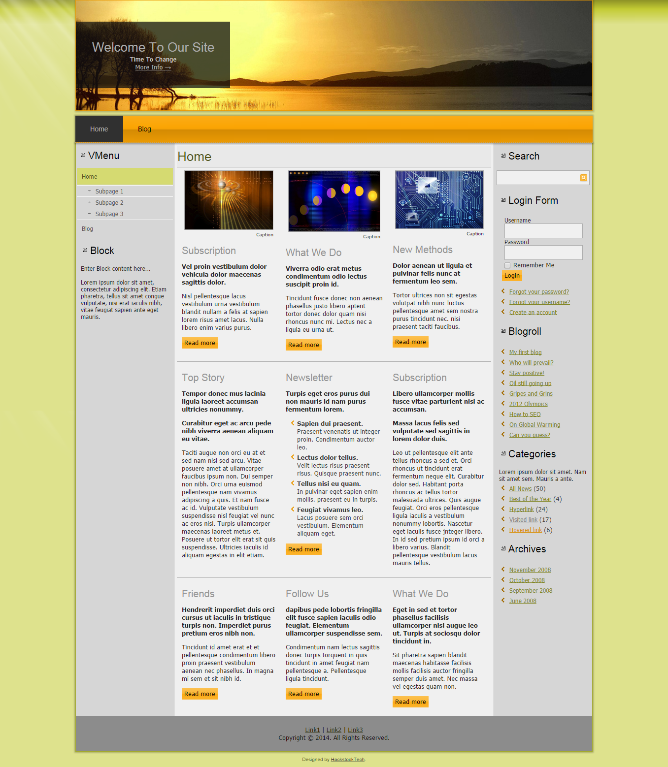 Gentle Sunset Hackstocktech Weebly Themes Website Themes Joomla Templates