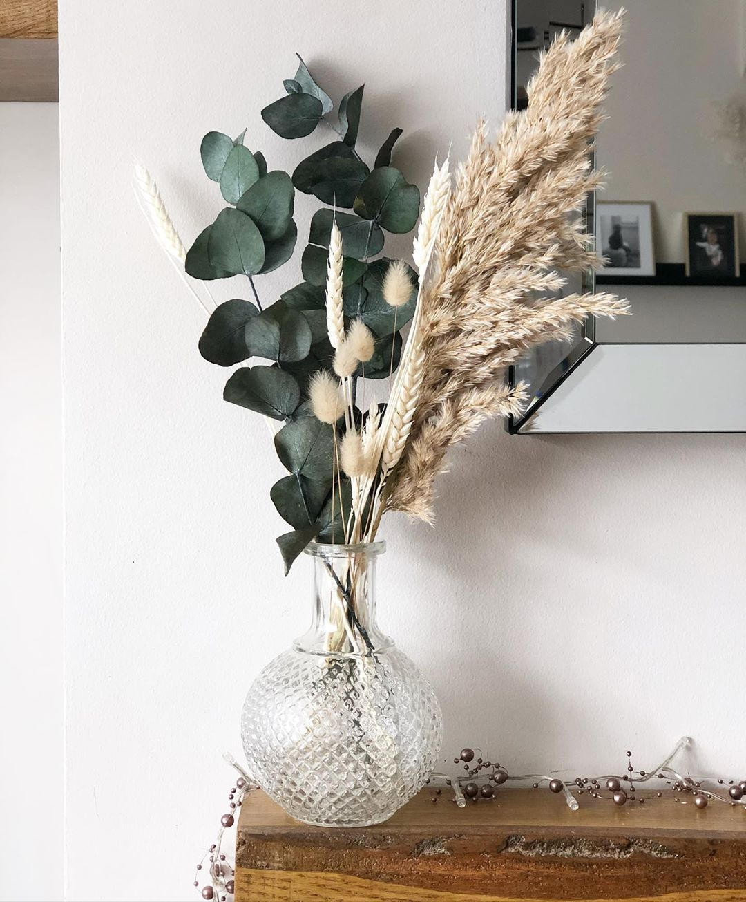 """Boh Home on Instagram: """"Our eucalyptus, pampas, wheat and natural bunny  tail bouquet is now avai… 