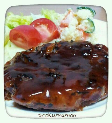 玉ねぎが甘くて美味しかった。 ポテトサラダは、母から貰いました☆ シンシアです(^-^)♪美味しい! 今日も一日お疲れさまでした☆ - 92件のもぐもぐ - ひじき入りハンバーグ☆ by sirokumamon