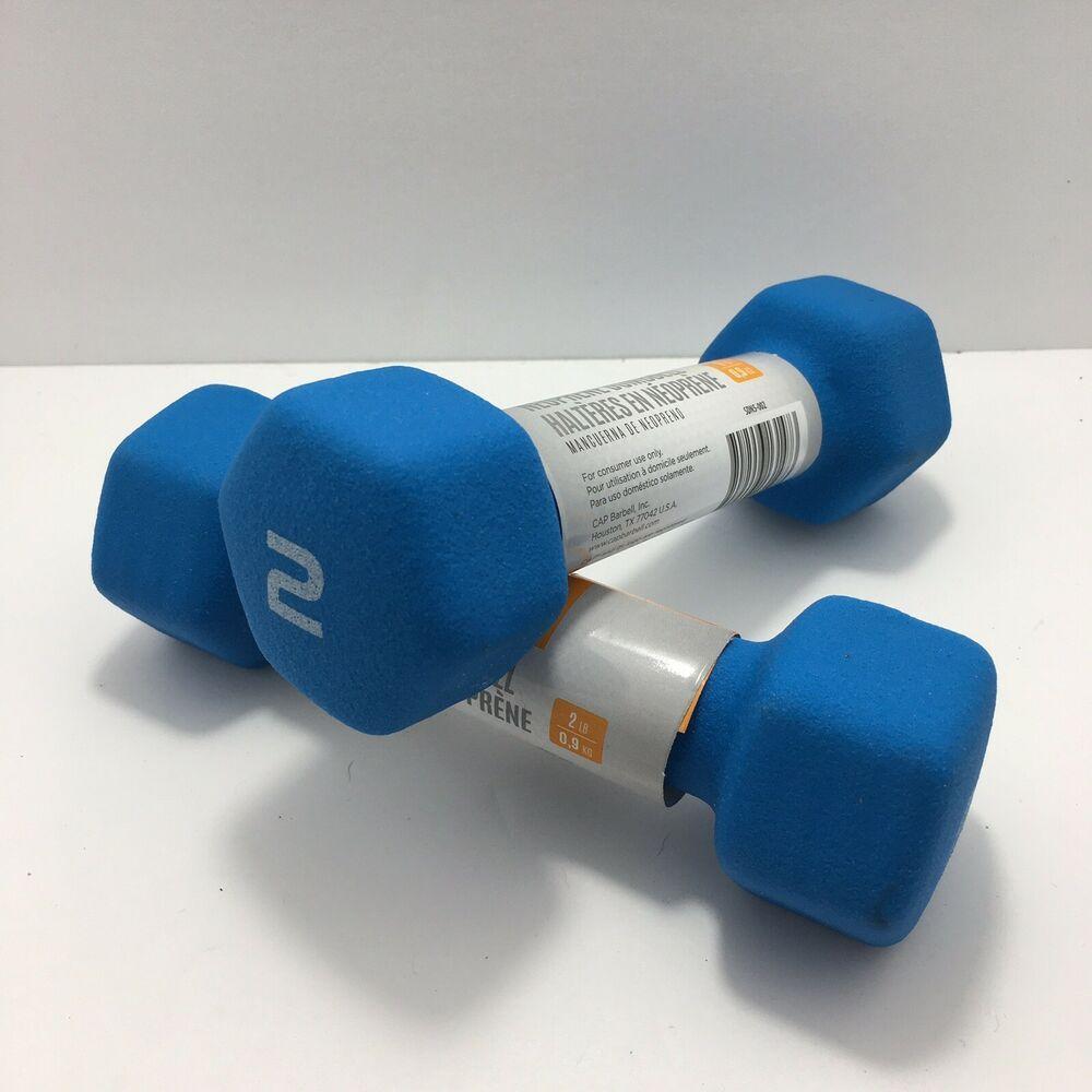 Blue CAP SDN5-002 Neoprene Coated Hex Dumbbell 2Lbs