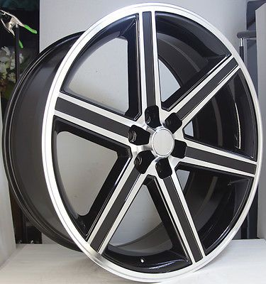 22 Quot Iroc Black Machined 6 Lug Wheel Set 22x9 5 Irocs 6x139 7