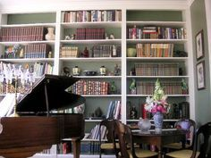 library room design with grand piano | ... bookcas dream hous live room music books music rooms room inspir