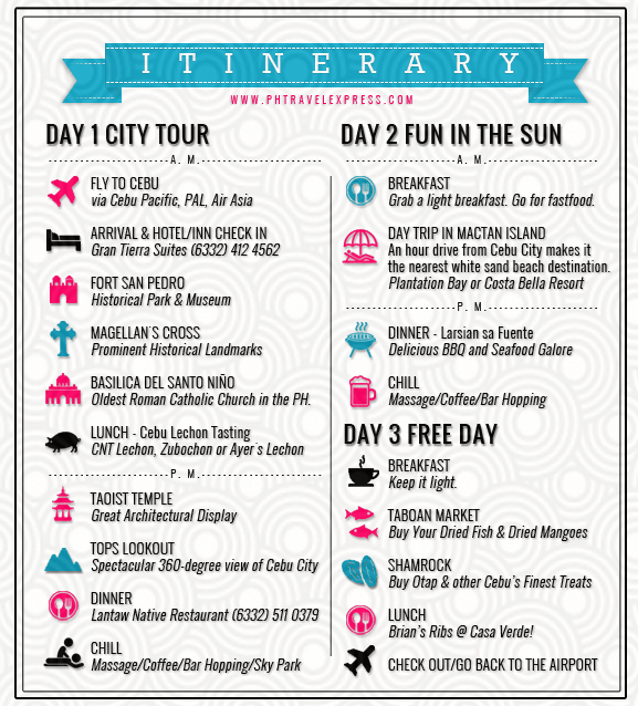 Cebu 3 Day Itinerary Spectacular Places You Need To Visit Around The City Ph Travel Express