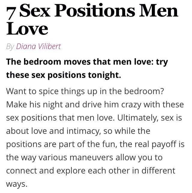 Sex positions men loves