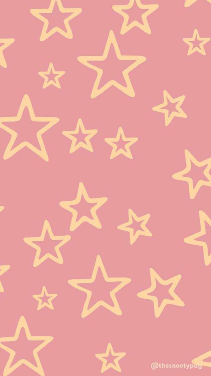 Mgrous05 Shop Star Wallpaper Pastel Background Yellow Wallpaper