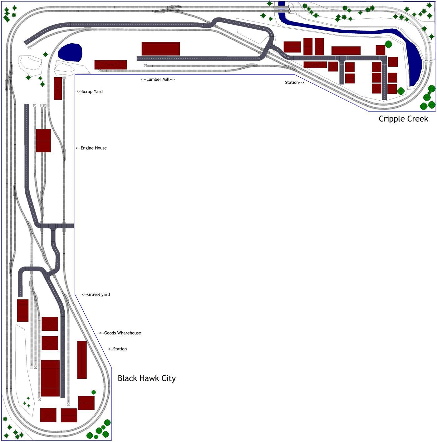 12x12 L-shaped Train Layout in N | Model trains | Train layouts