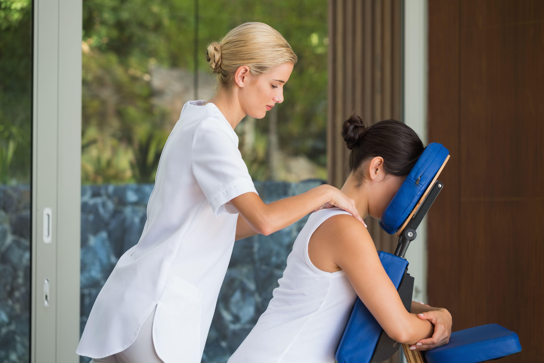 Cervical And Back Massage Station Massage Business Massage