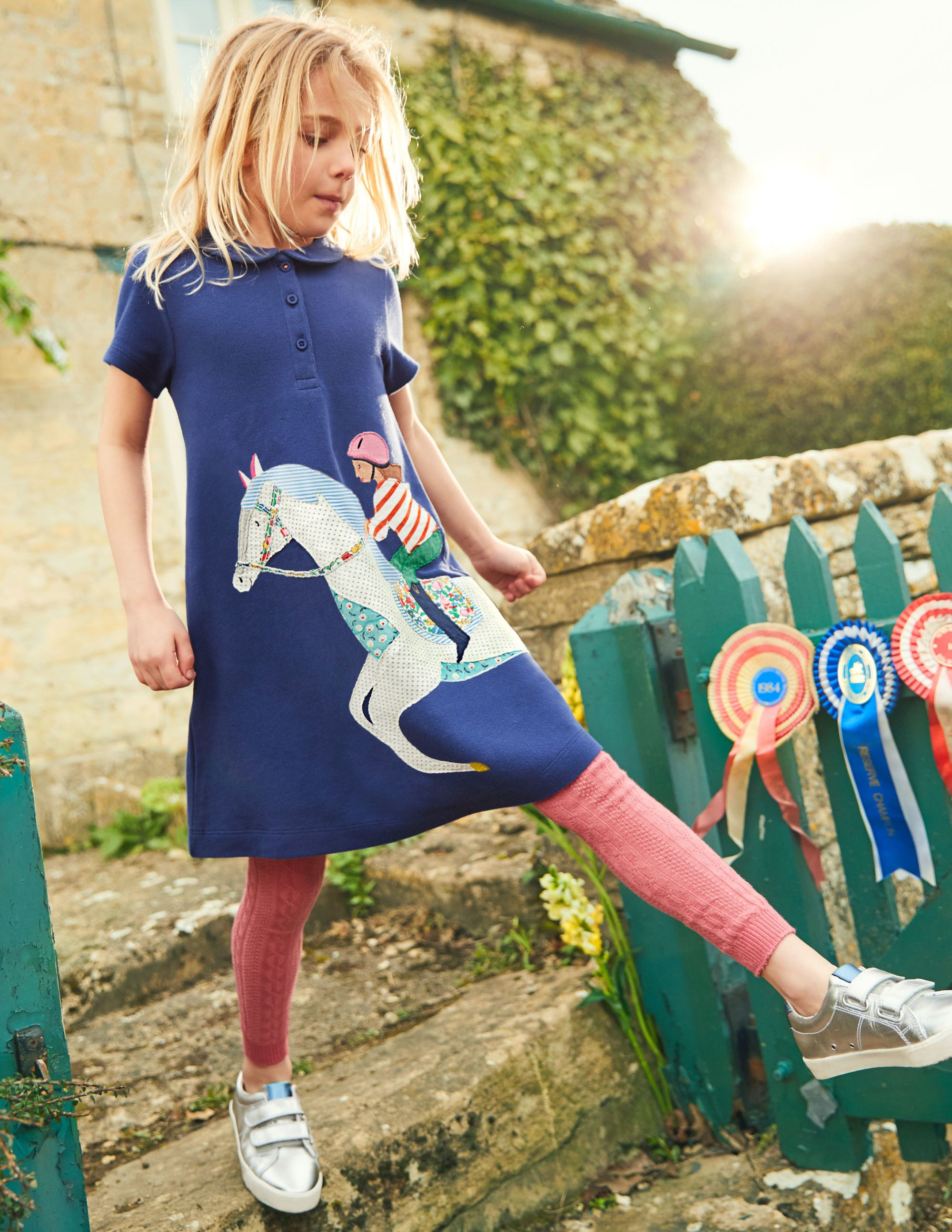 cf0a12161f89 Big Appliqué Polo Dress G0638 Dresses at Boden