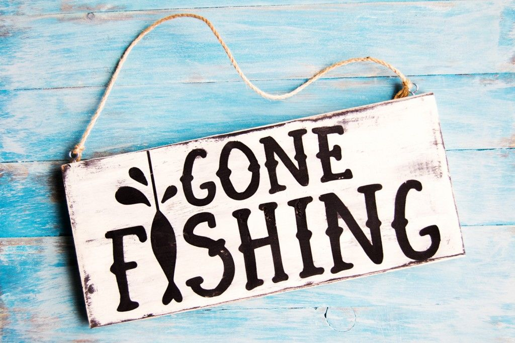 Image result for gone fishing' sign