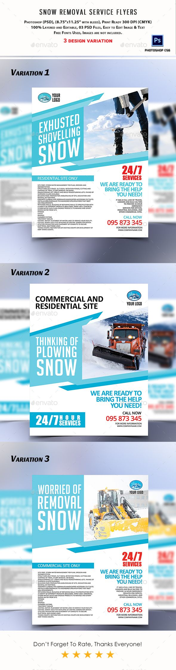 Snow Removal Service Flyers Snow Removal Services Removal - Snow plowing flyer template