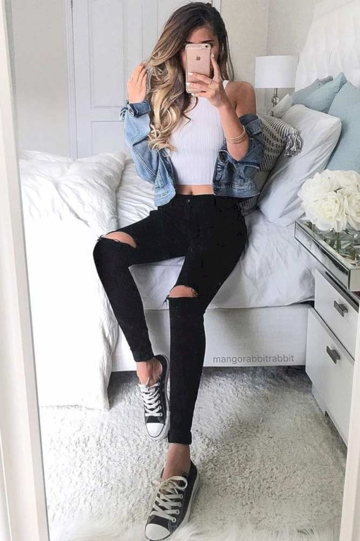 Photo of 32 Teen Outfit Ideas for School this Summer For school by ajmalina with a leathe…