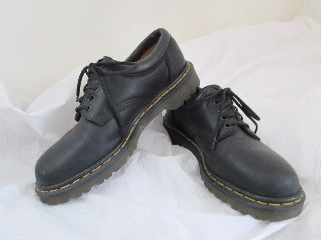 Black · Dr Martens 8053 Made In England Black Leather Lace Up Oxford Shoes  UK 7 US 8