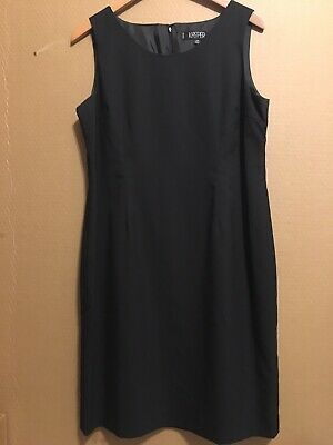 Details about KASPER Petite Size 14P Black Sleeveless Lined Sheath Dress *Career*Cocktail #blacksleevelessdress