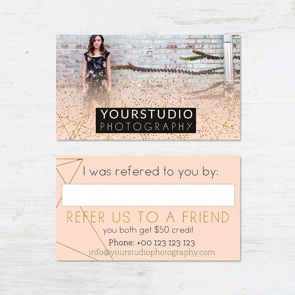 Referral Card Template Pastel Greetings throughout