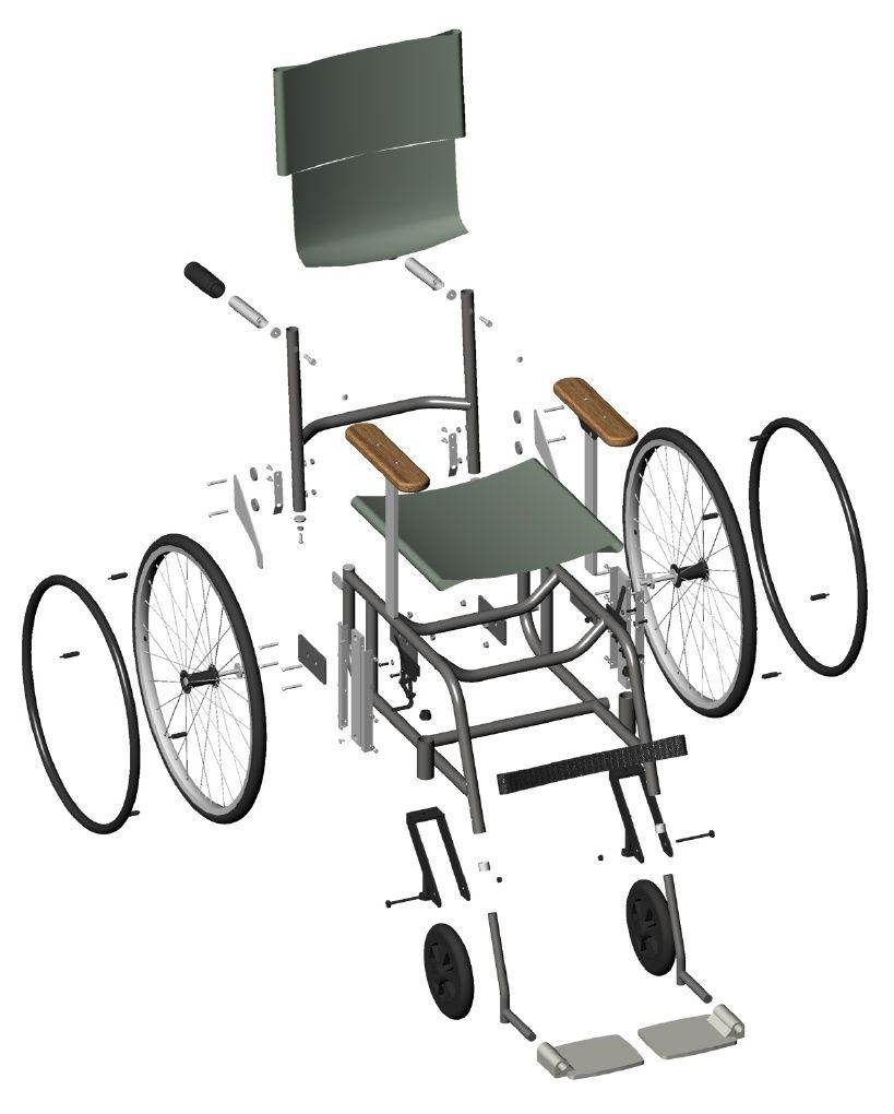 Planos de silla de ruedas planos con medidas y descipciones detalladas de c mo hacer un juego - Medidas silla ...