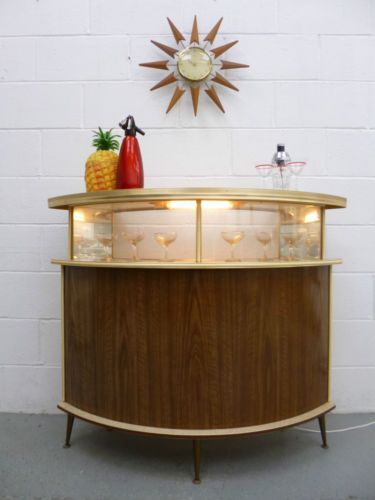 Stunning Large Retro Vintage 60s 70s Cocktail Home Drinks Bar