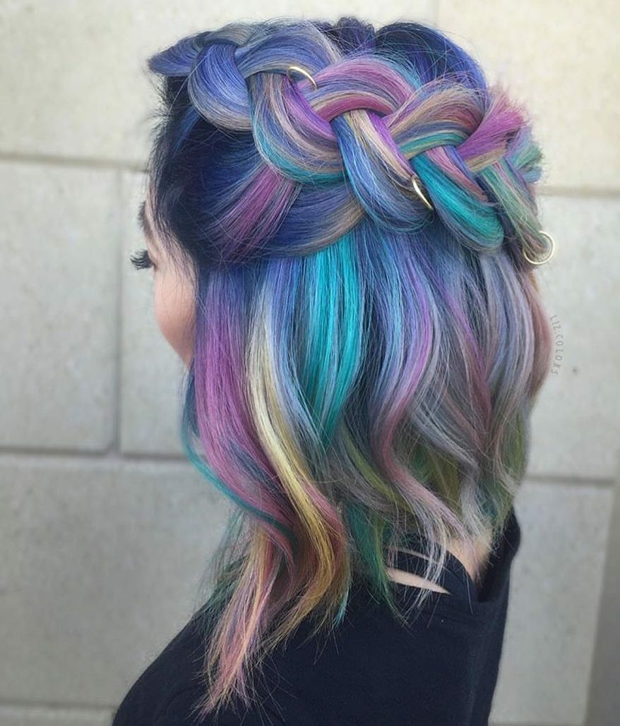 Pulp riot mermaid bright hair colour u curls coiffures