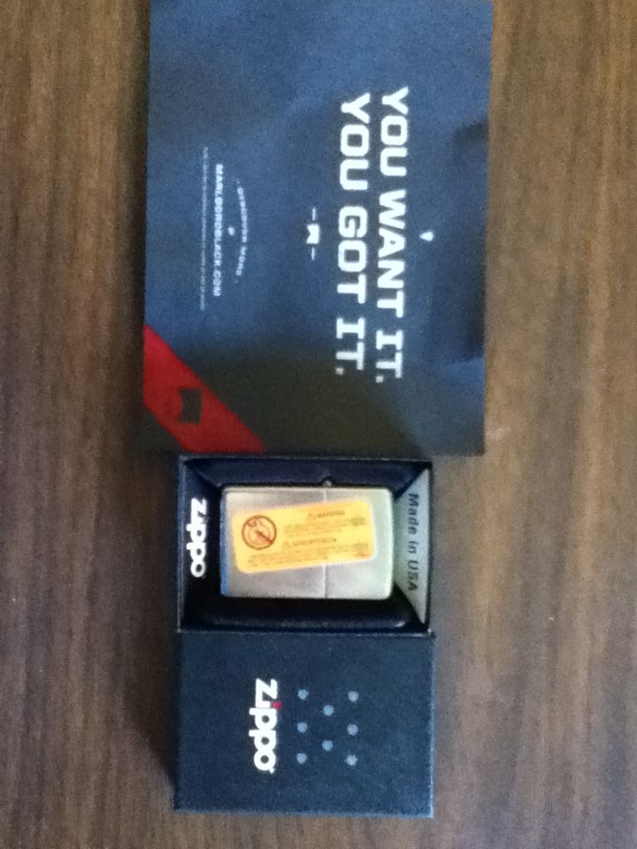 Zippo windproof lighter from Marlboroblack.com | Free Stuff Times ...