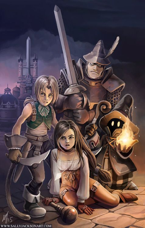 Final Fantasy 9 Steiner Concept Art