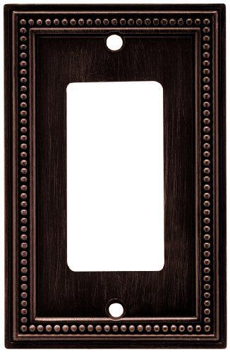 Liberty Hardware 64405 Beaded Single Decorator Wall Plate