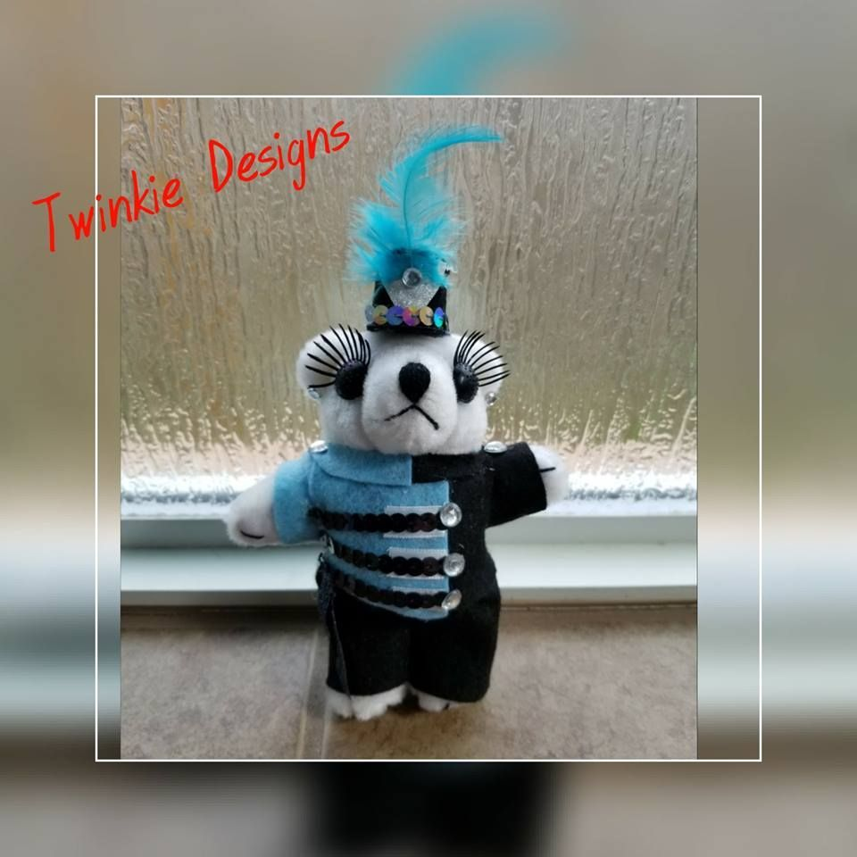 Girl Ban Bear for Homecoming Mum by Twinkie Designs #texastwinkies Band Bear, Homecoming Mum, Cypress TX #texastwinkies